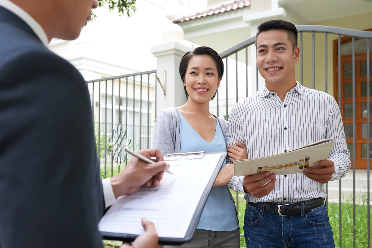 couple about to buy a property