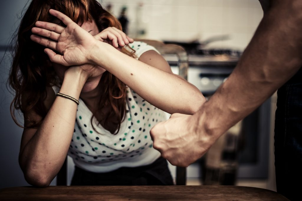 Woman experiencing abuse