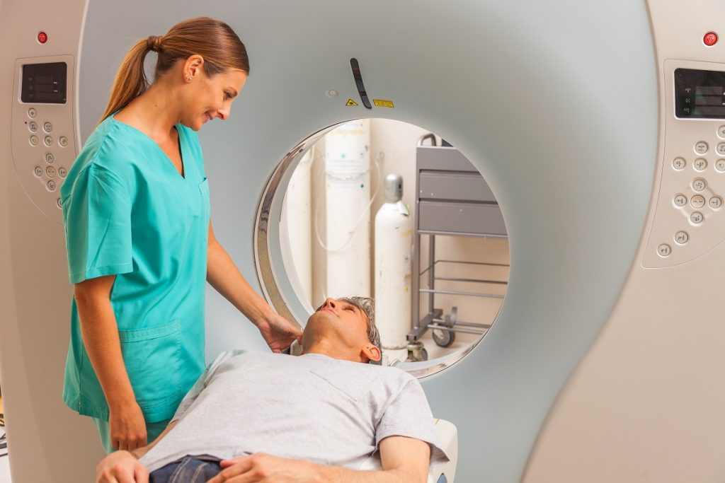 patient having a ct scan