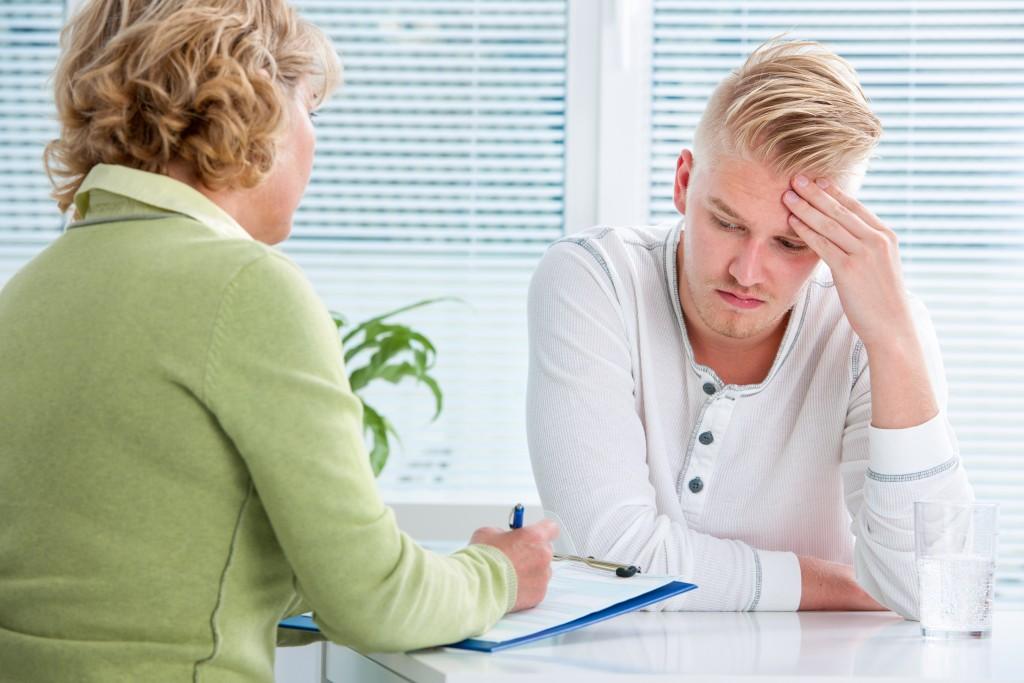 Employee talking to HR