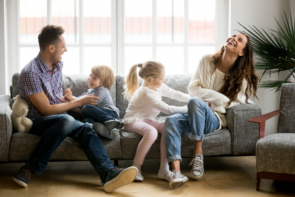 Family inside the house