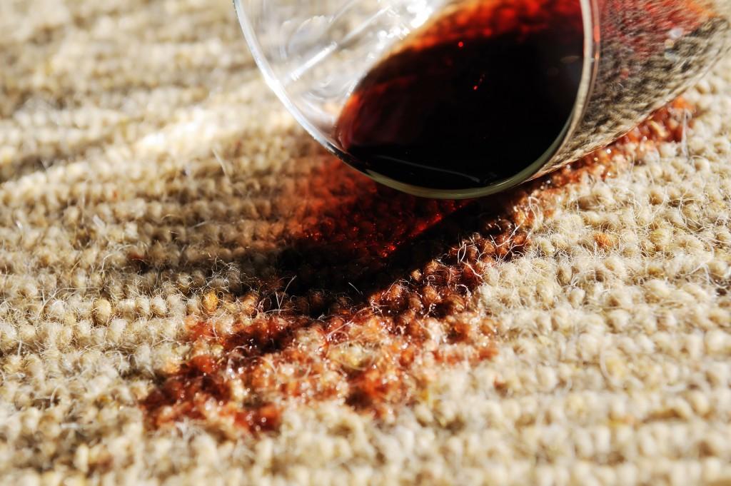 wine spill stain