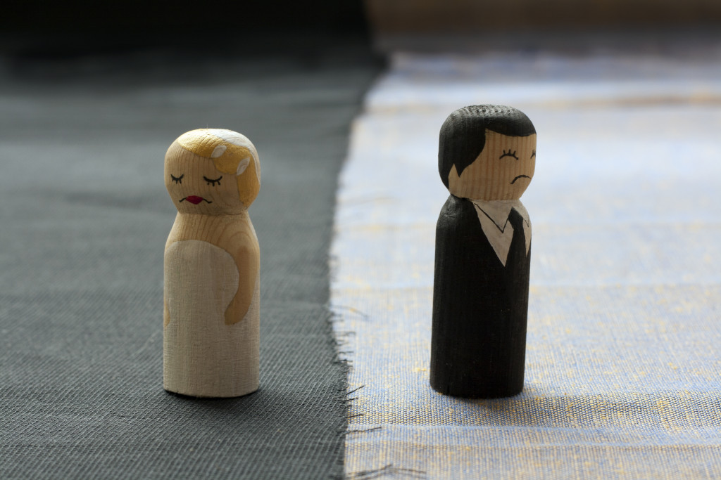 wife and husband conflict concept