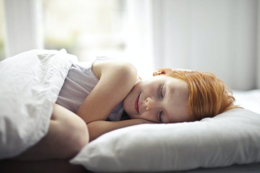 young girl sleeping peacefully