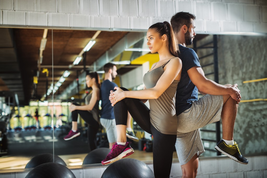 two people at the gym