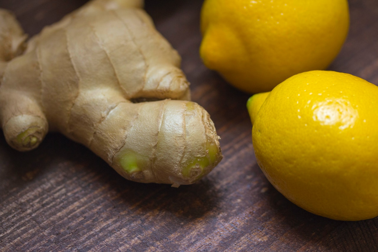 a knob of ginger and some lemons