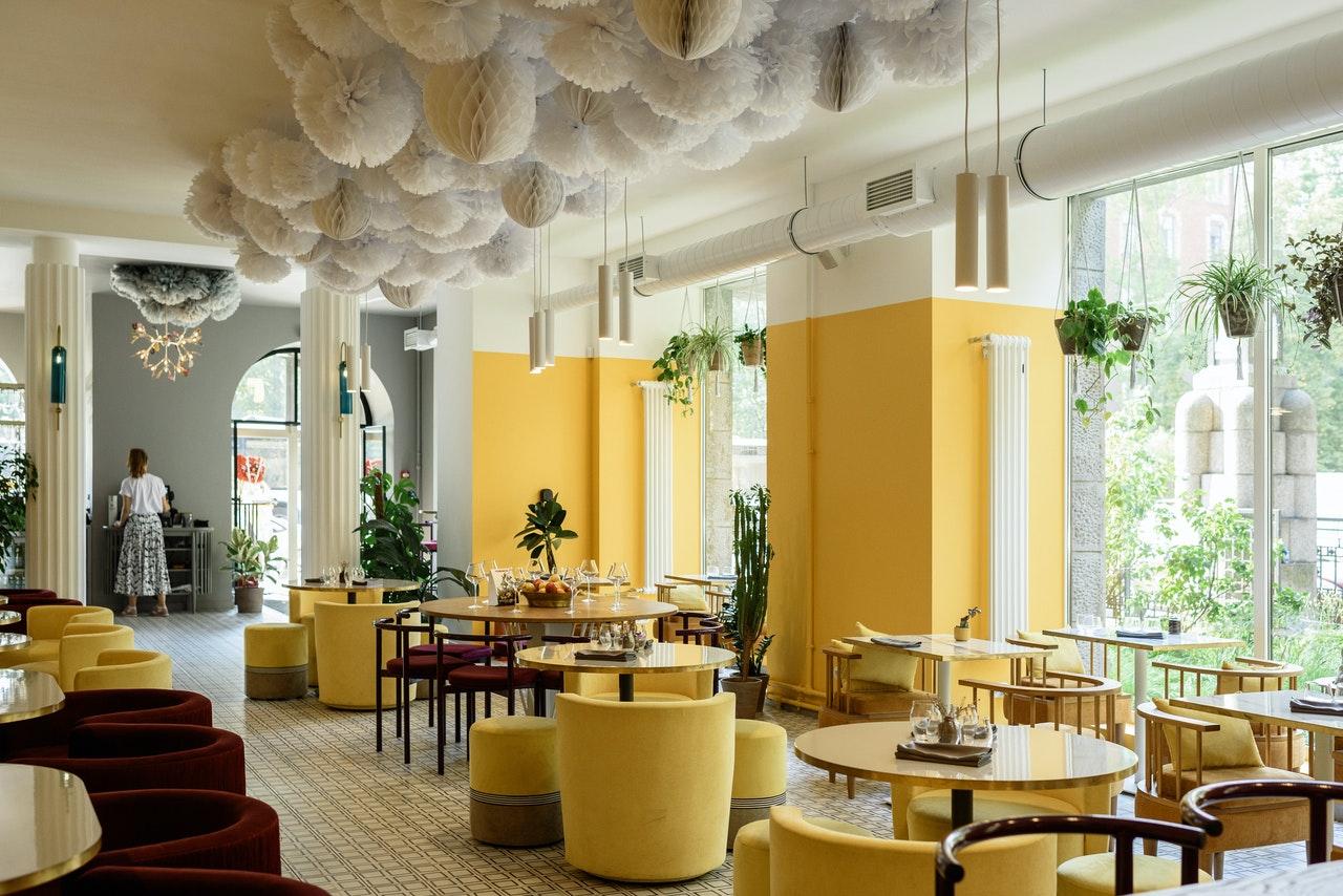 restaurant yellow interior