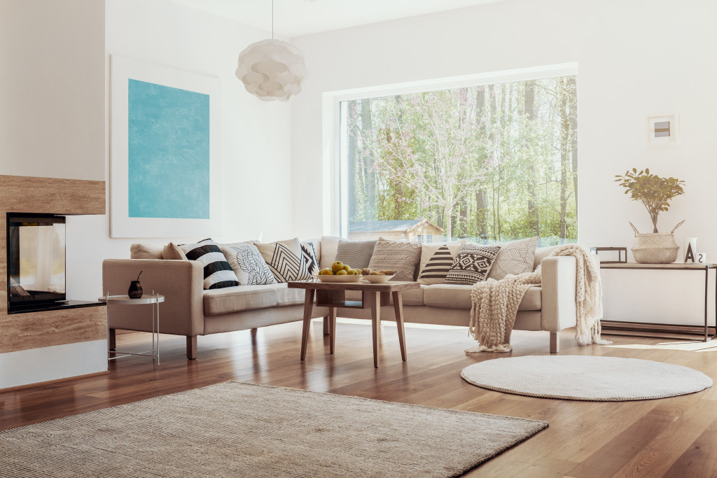 comfy clean home interior