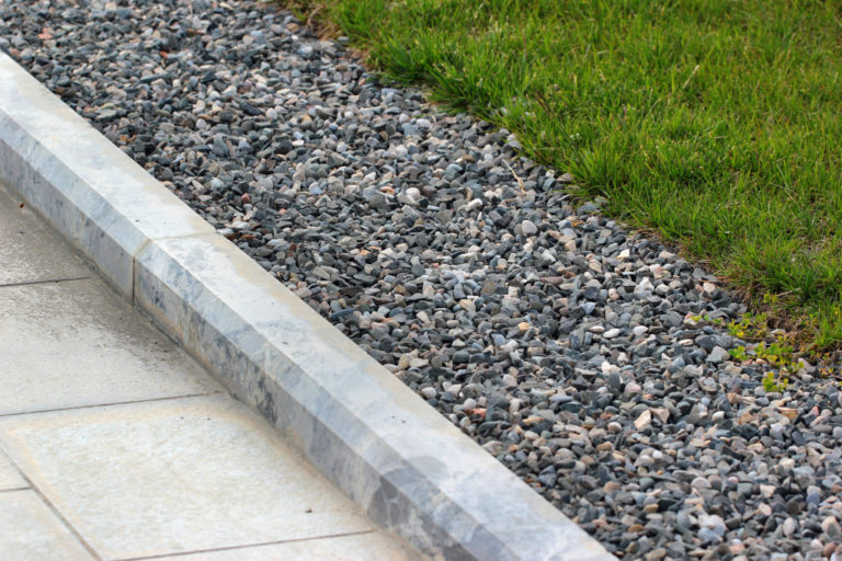 curb with stones
