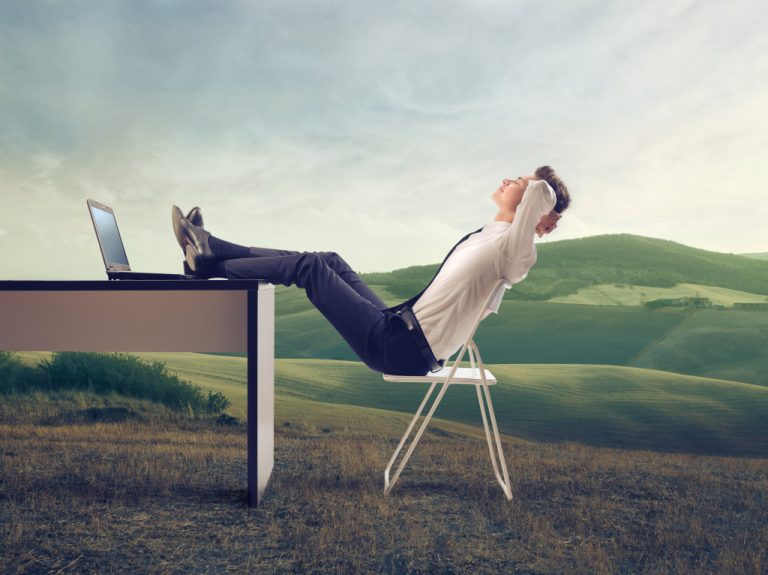 man reclining in chair relaxed