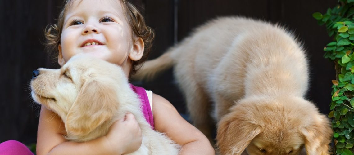 kid and pets